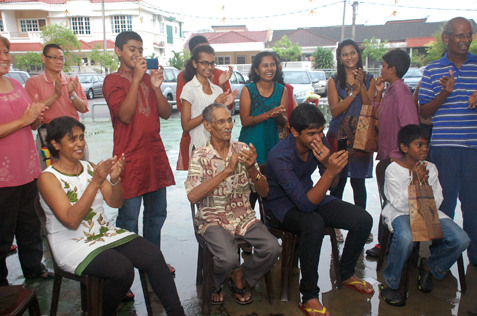 Residents enjoy the fun at  Deepavali Tea Pary