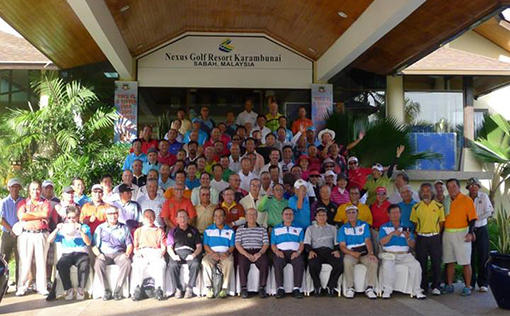 The participant of 6th Pan-Borneo Ameture Senior Golfers