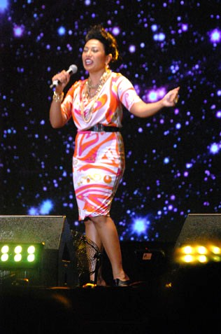 Ning Baizura at 2014 countdown party at Mutiara Damansara