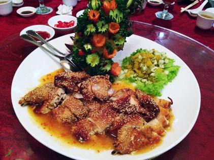 Pei Pah Chicken in Orange Salsa Sauce
