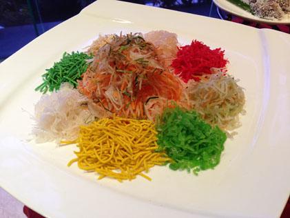 Prosperity Yee Sang with crustacean