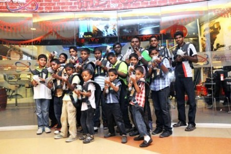 The kids of Agathians Shelter had a wonderful time enjoying thrilling rounds of laser tag games at eCurve