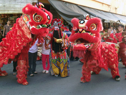 Choy San Yeh and lion dance performance in Sea Park