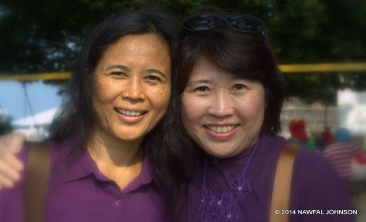 Aida Redza (left) and Jenny Liew (right), from Penang, who took up the lead to organise the walk. (Photo by Nawfal Johnson)