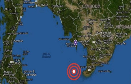 The location of the suspected crash site according to Vietnamese news sources