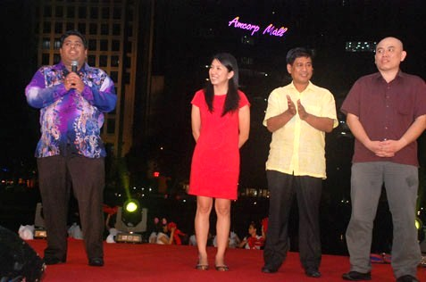 (From left) Rajiv Rishyakaran, Yeo Bee Yin, Puasa Mohd Taib and Lau Weng San