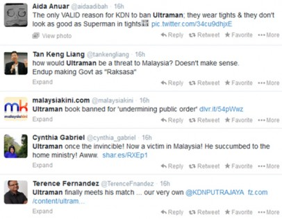 Ban inviting a steady stream of ridicule from Malaysian internet users