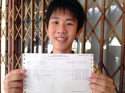 SMK Taman SEA top SPM 2013 student Hoo Kien Seng, 9A+