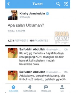 "Khairy Jamaluddin: ""What did Ultraman do wrong?"""
