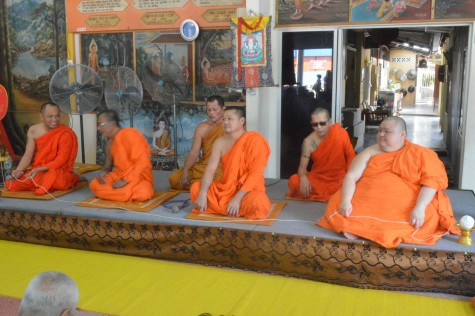 The temple and visiting Monks