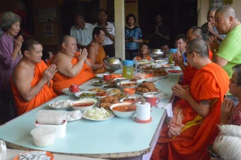Sangha Dana Lunch for the Monks.