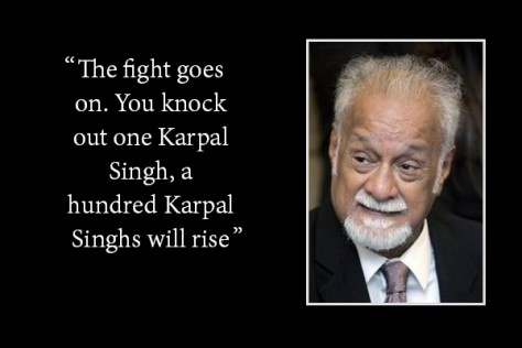After the High Court ruled that Karpal was guilty of sedition
