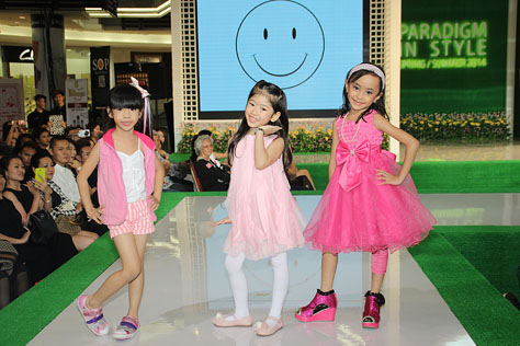 Kid model showcase their modelling skills on the runway