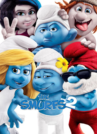 The lovable blue-skinned friends The Smurfs