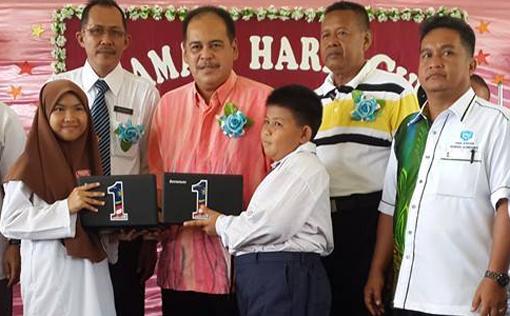 Adun Sekong Sandakan Samsudin Yahya Laptop 1Malaysia
