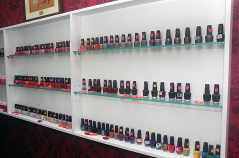 Bmic Nail Spa Salon and its wide selection of premium nail care products.