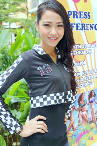Miss World Cup Malaysia 2014 finalist Noniey