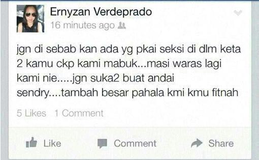 Ernyzan Verdeprado_Jalan Lintas_Kepayang_Accident