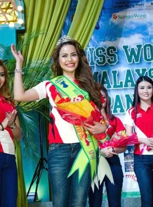 Miss World Cup Malaysia 2014 winner Elizabeth Naluz