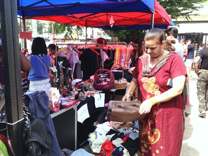 A steady stream of visitors packed the stalls