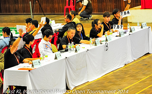 5 adjudicators will decide the points scored by each competitor