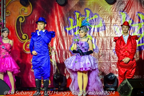 A Broadway style performance at the Hungry Ghost Festival