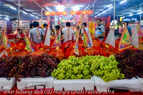 Fruit offerings for the Hungry Ghosts