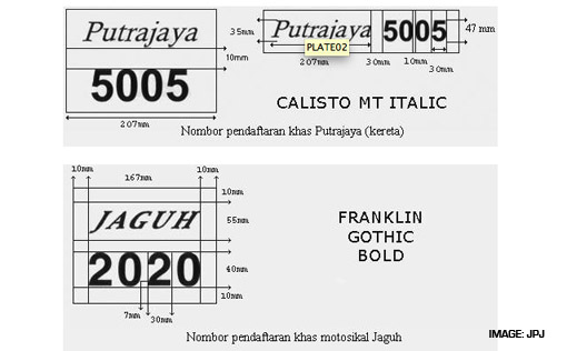 JPJ Malaysia Cool NUmber Plates 5
