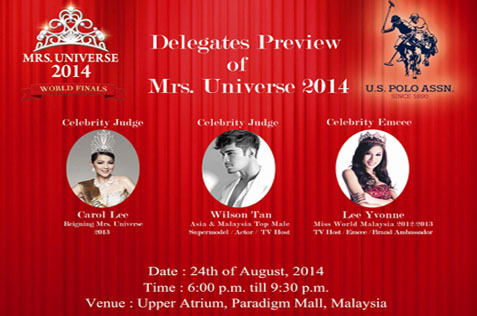 Mrs Universe 2014 delegates preview at Paradigm Mall, PJ