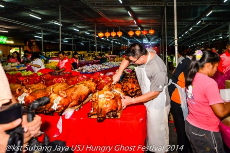 On the final night of the Festival all the food offerings are distributed to the residents who are present