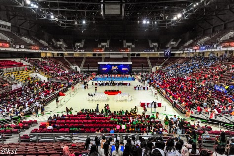 Overview of the Putra Indoor Stadium at Bukit Jalil