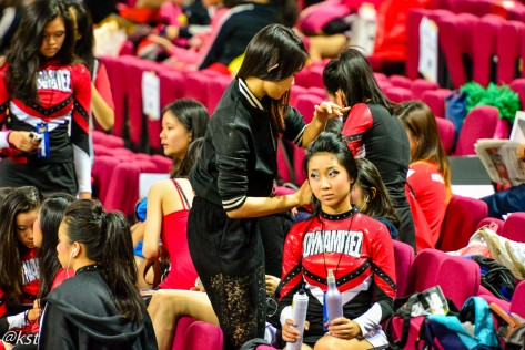 Some of the teams even brought along thier own hair stylists and make up artist