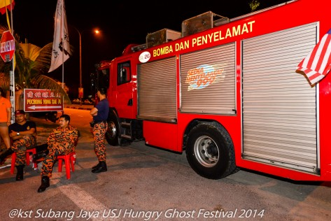The Fire Department on standby on the night the effigies are burnt.