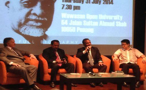 The panel. L to R: Donogjue, Gobind SIngh, Ramkarpal Singh, Liew Chin Tong