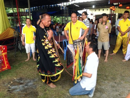 A ritual ceremony performed during the temple deity's celebration