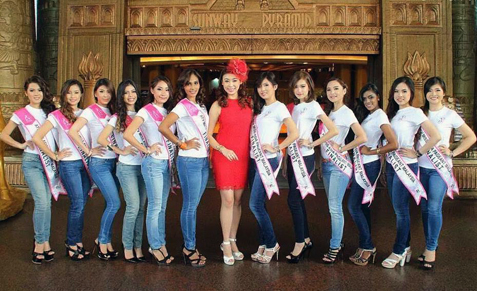 Amelia Liew (centre) with (from left) Jasmine Soo, Michelle Loh, Mabel Chan, Jacinda Rae Webb, Daphny Chen, Leanndrea Anne, Joey Chubg, Beatrice Lee, Justina Au Yong, Geetha, Vernice Low and Anita Lee