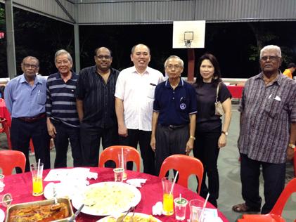 (From left) Raj, Kassim Salleh, Jeyaseelen, Lau Weng San, Kong Poh Heon, Rachel Hew and Rajendran