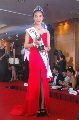 Miss Malaysia World 2014 fourth runner-up Olivia Shyan, 21