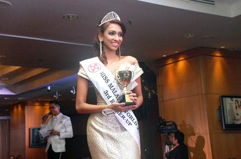 Miss Malaysia World 2014 third runner-up Dhivya Dhyana Suppiah, 17