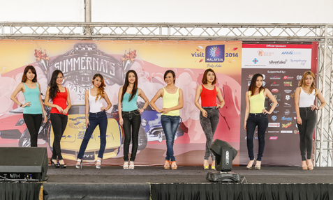 Participants vying for the first Miss Summernats Malaysia 2014