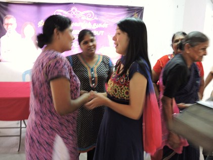 Yeo greets her guests at Deepavali lunch treat