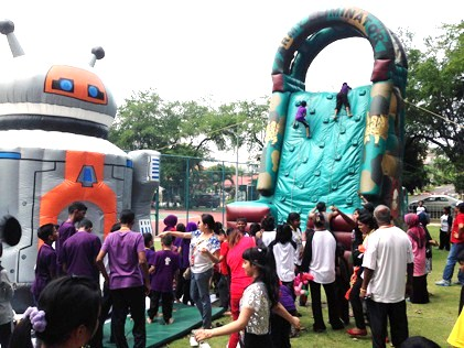 inflatables at children carnival