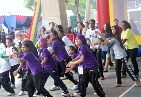 zumba dance at children carnival