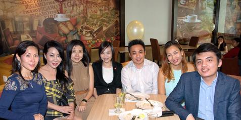 (L-R) Joan Neo, Datin Maylene, Ruby Chua, Ivy Lee , Ben Chua, Cindy Khen & Alex Kok