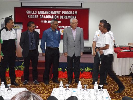 Certificate handing ceremony