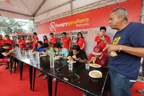 Roti Canai eating contest during the fiesta saw participation of a wide variety of Malaysians from all walks of life