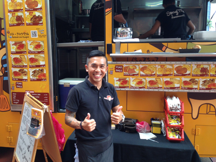 SpagMe boss Cavin Ng gives food truck a thumbs up