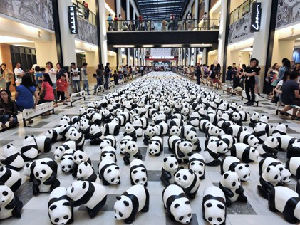 1600 pandas at Publika, KL