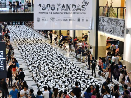 1600 pandas on exhibit at Publika, KL