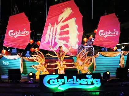 A Thousand Hands dance performance at Carlsberg's 2015 CNY Launch.